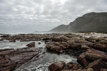 rocks on a coastal shore