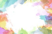 colorful watercolor bordered background.