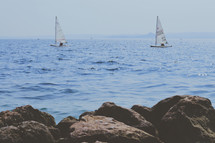 sailboats on a the ocean