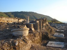Ruins at Hippos, one of the Decapolis cities