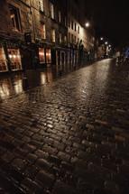 damp brick sidewalks in Scotland