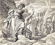 Moses Destroys the Tablets, Exodus 32:1-19