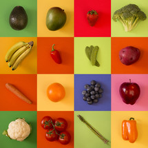 fruits and vegetables pattern background