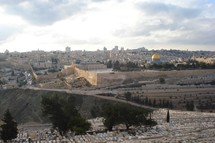 Jerusalem's Temple Mount viewed from the Mount of Olives