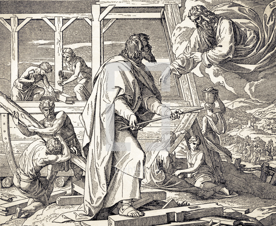 Noah Building the Ark, Genesis 6:13-22