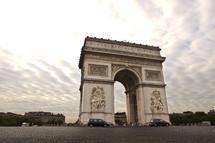 Arc de Triomphe in Paris France at dusk