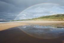 rainbow over a beach