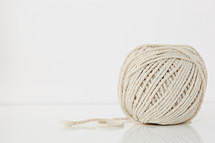 twine on a white background