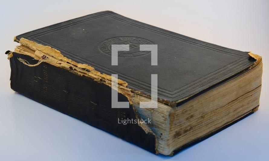 A worn Bible.