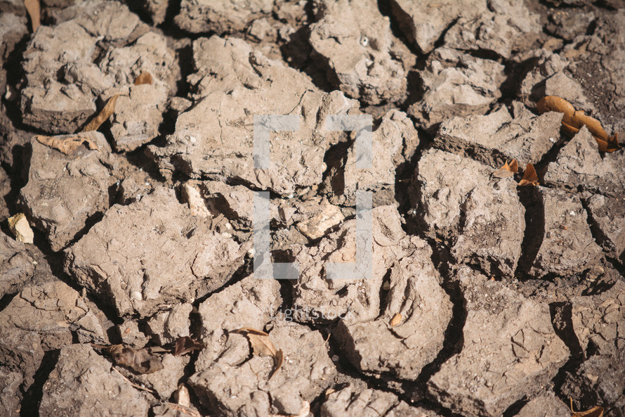 Dry, cracked earth.