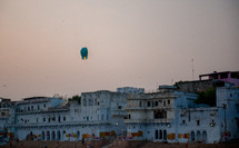 floating paper lanterns in India