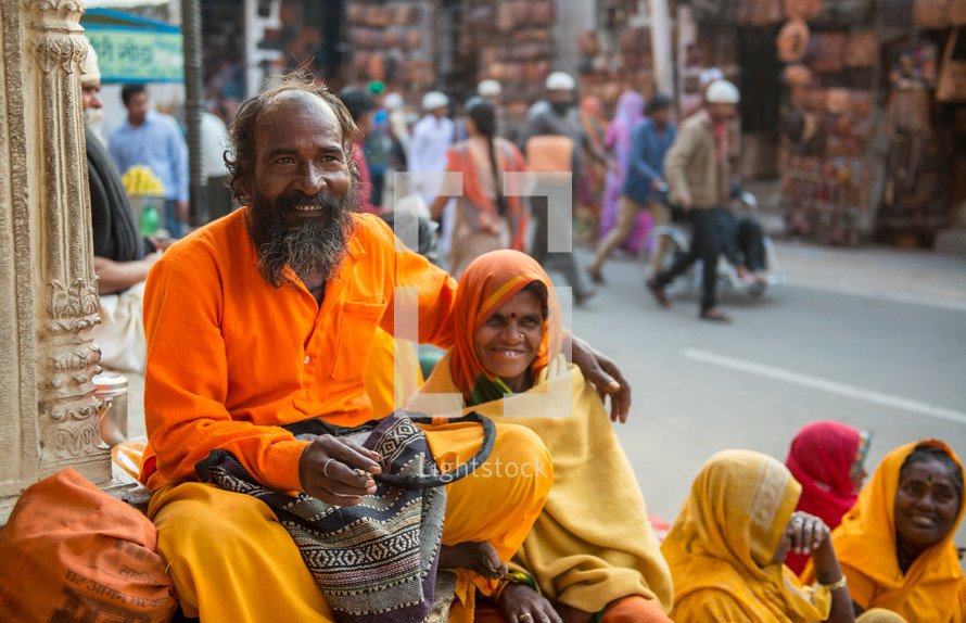 crowds of people on the streets in India