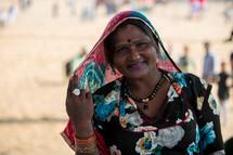 Hindu woman in India