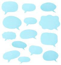 empty talk bubbles
