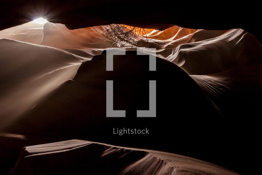 Sandfall Antelope Canyon