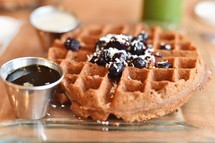 blueberries and waffles