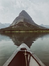 canoe on the water