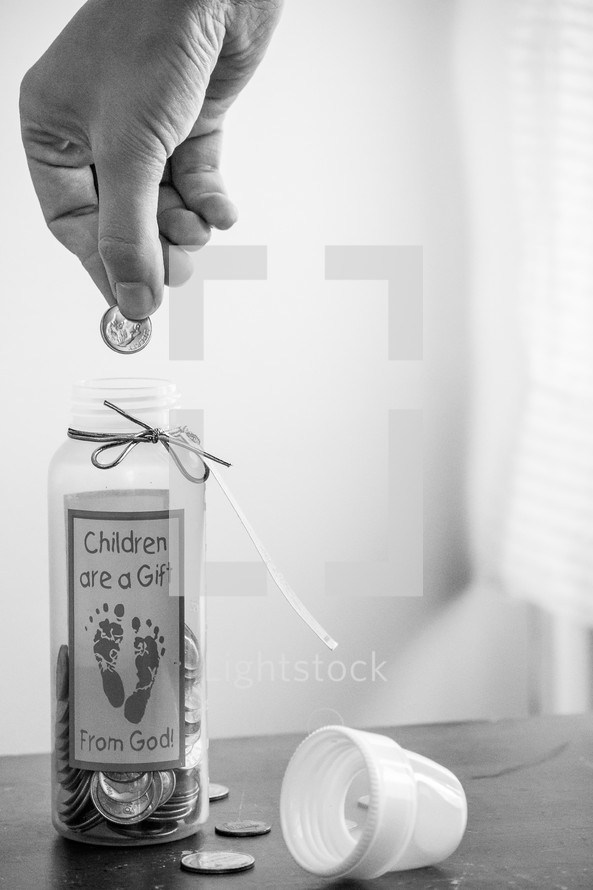 Children are a gift from God baby bottle