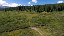 trail through grasslands in Colorado