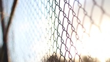 fence at a baseball field