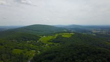 drone flying over western Maryland