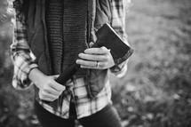 a woman holding an ax