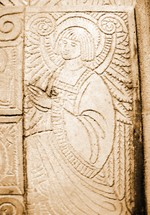 Praying Angel Carved Relief