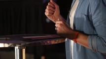 Hands Gesturing on Modern Stage