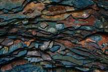 layers of stacked rocks