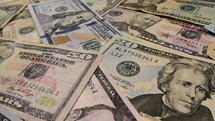 cash, money, spread out, dollars, bills, US currency