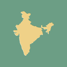 Vector map of the country of India.