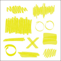 yellow highlighter marks.