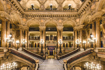 The Grand Staircase of the Opéra Garnier of Paris