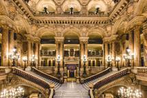 The Grand Staircase of the Opéra Garnier of Paris