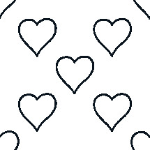 sketched hearts pattern