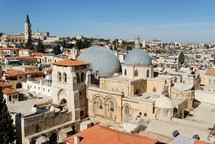 Aerial view of the Holy Sepulcher.