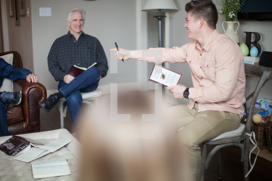 A man leading a Bible Study
