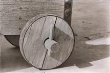 wooden canon wheel
