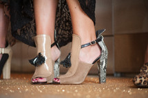 Woman's high-heeled shoes.