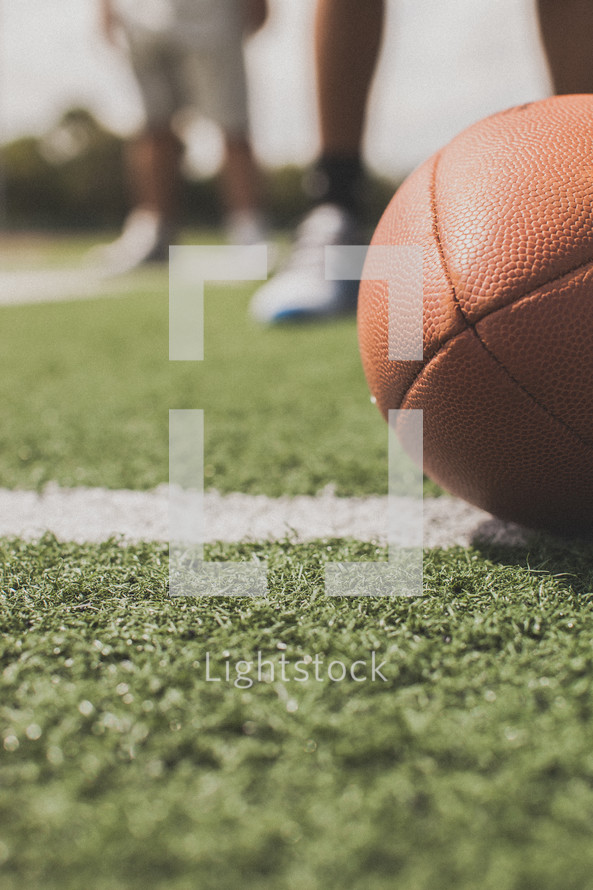 football and feet
