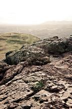 rocky mountaintop in Edinburgh