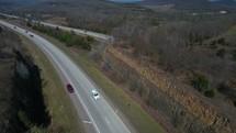 traffic on a highway in Arkansas