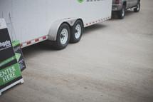 truck pulling a trailer