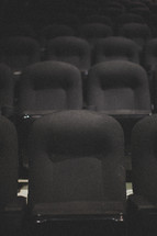 Rows of theater seats.