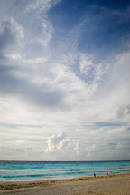 clouds over a beach