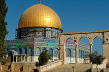 The Dome of the Rock from south.