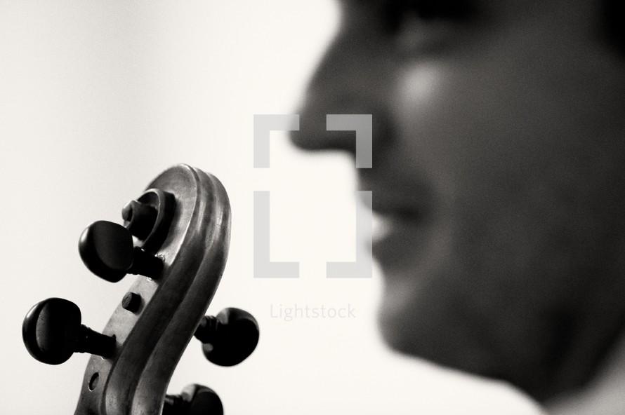 scroll of a violin