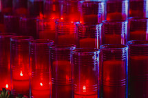 red prayer candles