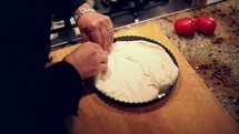 working with pizza dough