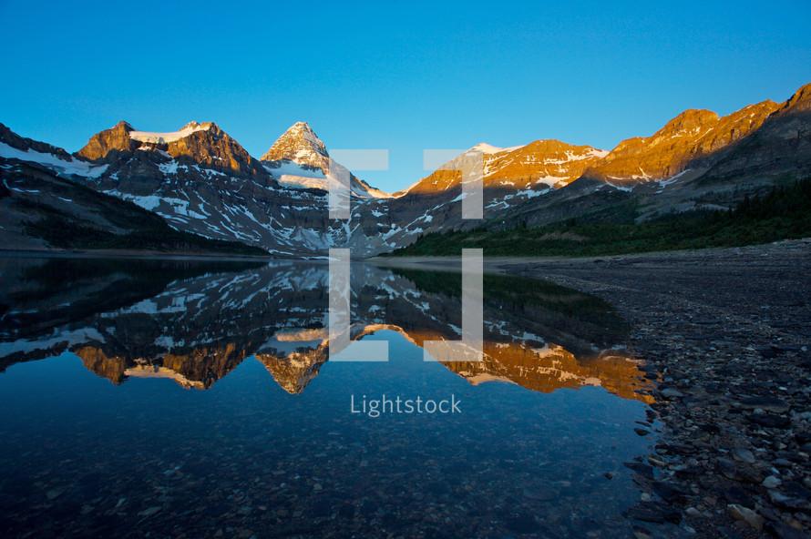 morning light on Mount Assiniboine